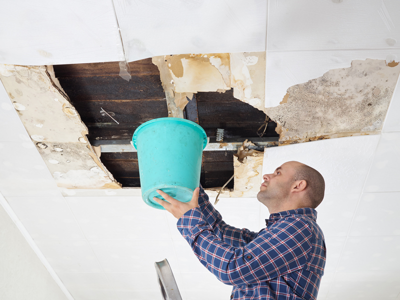 Leaking Roof Water Damage